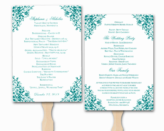 Free Wedding Program Templates Word New Wedding Program Template Word