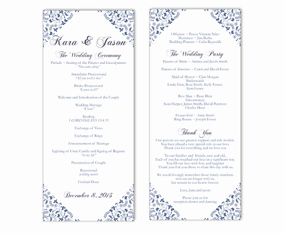 Free Wedding Program Templates Word Unique Wedding Program Template Word