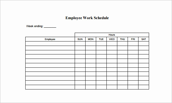 Free Work Schedule Template Awesome 10 Employee Schedule Templates Pdf Word Excel