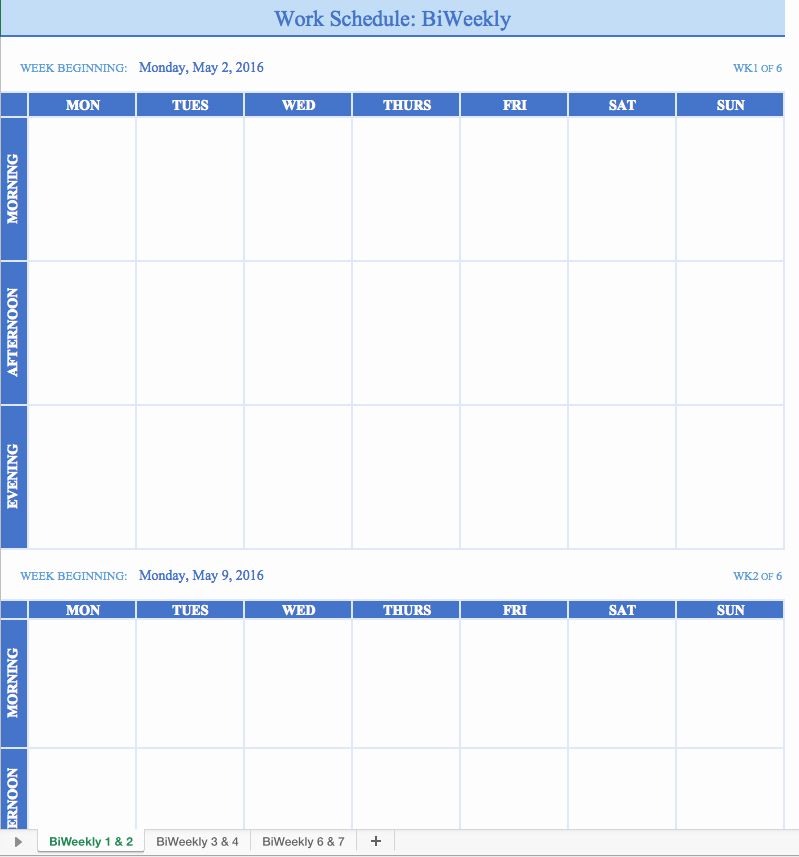 Free Work Schedule Template Awesome Free Work Schedule Templates for Word and Excel