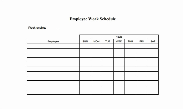 Free Work Schedule Template Best Of Free Employee Schedule Template