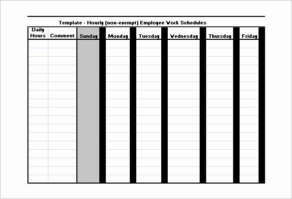 Free Work Schedule Template New Employee Work Schedule Template 16 Free Word Excel