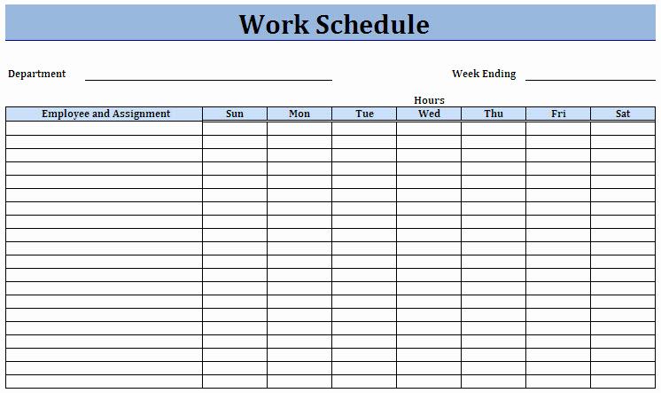 Free Work Schedule Template Unique 5 Work Schedule Templates Excel Xlts