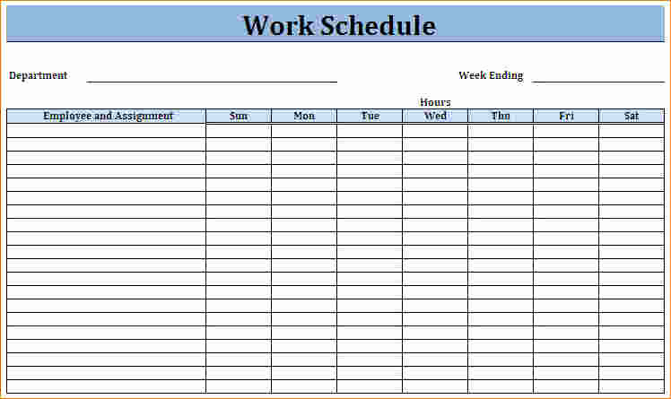 Free Work Schedule Template Unique Blank Employee Schedule