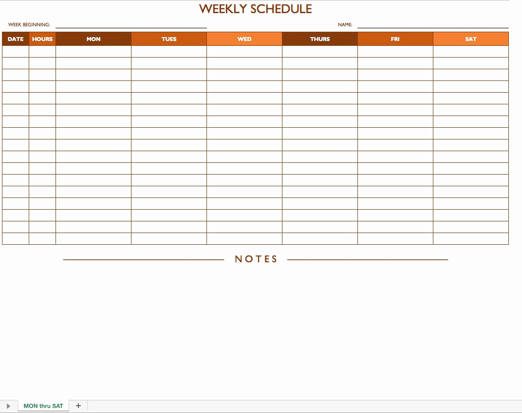 Free Work Schedule Template Unique Free Work Schedule Templates for Word and Excel