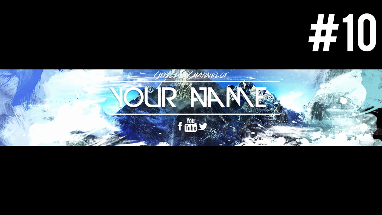 Free Youtube Banner Templates Awesome Insane Free Youtube Banner Template Psd 2015 10