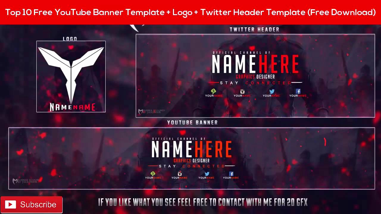 Free Youtube Banner Templates Best Of top 10 Free Banner Template Logo Twitter