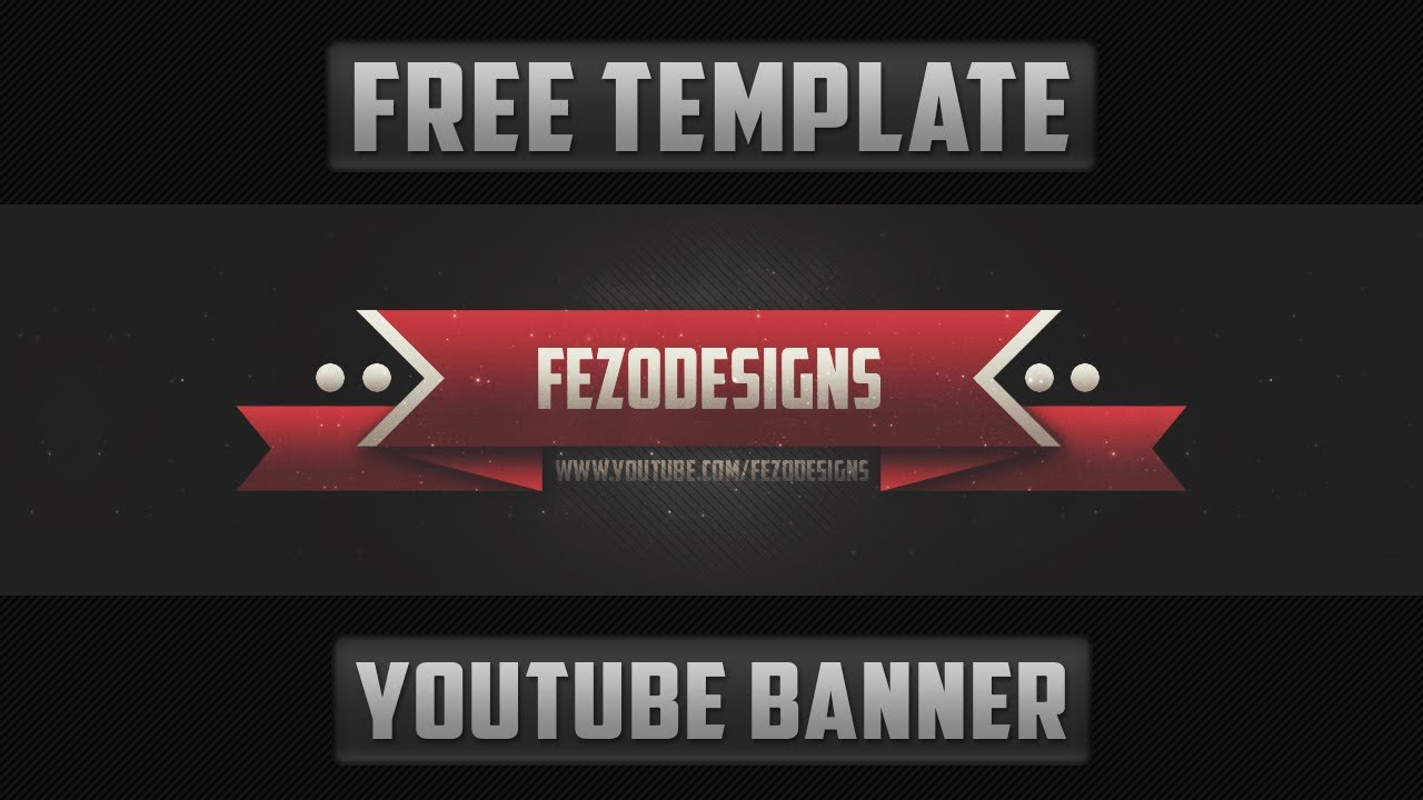 Free Youtube Banner Templates Elegant 2d Banner Template Free Download
