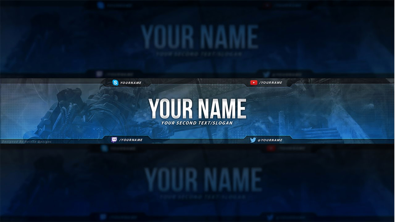Free Youtube Banner Templates Elegant Call Duty Banner Template Free Download Psd