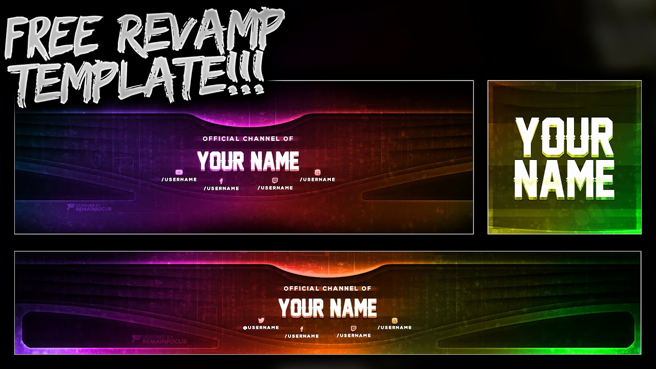 Free Youtube Banner Templates Fresh Free Youtube Banner Twitter Header Template Psd Free