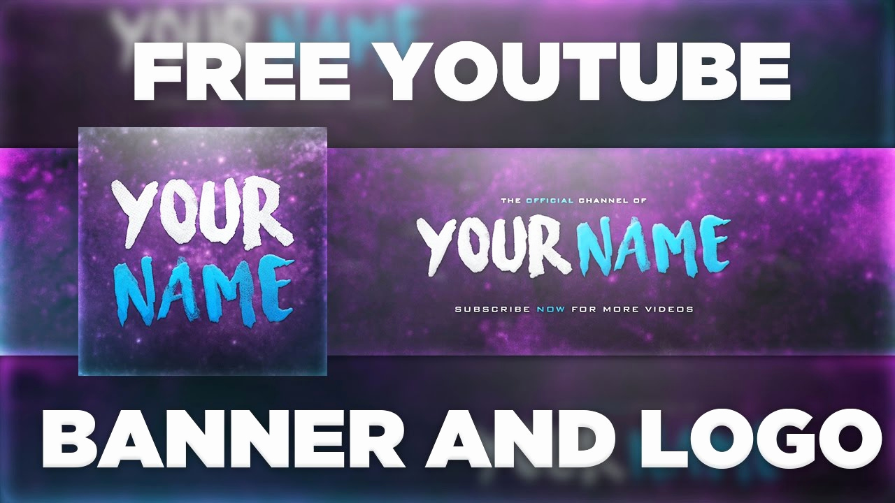 Free Youtube Banner Templates Lovely Space Banner Template Logo Shop Psd