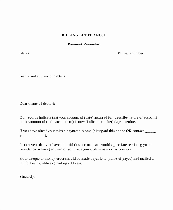 Friendly Payment Reminder Letter Samples Awesome 15 Payment Reminder Letter Templates Pdf Google Docs