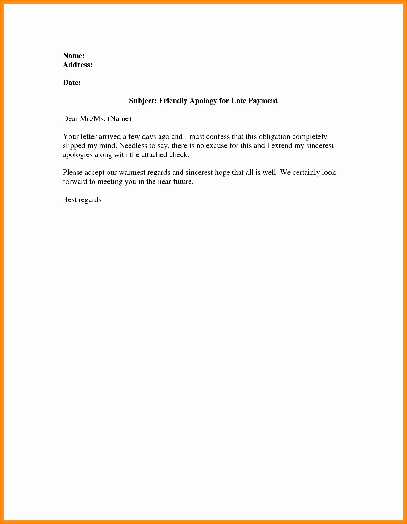 Friendly Payment Reminder Letter Samples New Payment Reminder Letter Template Free Download