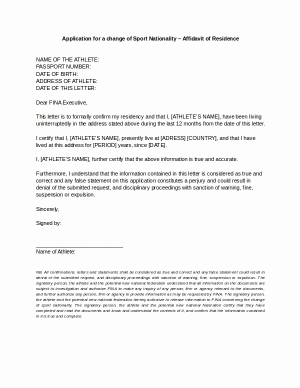 Friendly Rent Increase Letter Beautiful 9 Affidavit Of Residence form Examples Doc Pdf