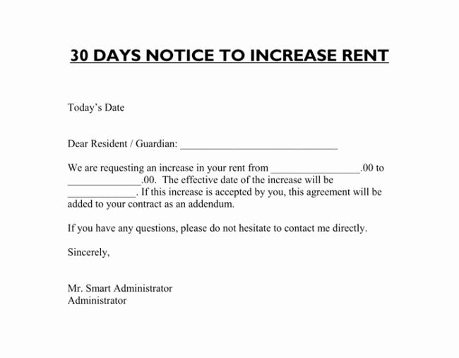 Friendly Rent Increase Letter Elegant 9 Samples Of Friendly Rent Increase Letter format for Tenants