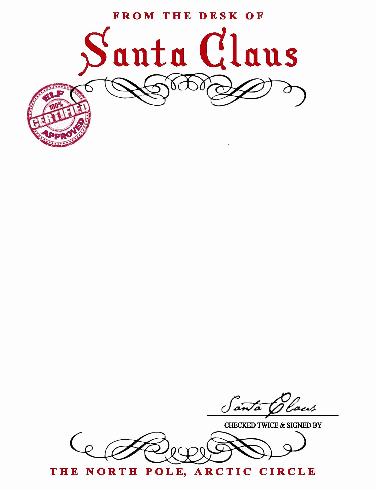 From the Desk Of Template Awesome Santa Claus Letterhead Will Bring Lots Of Joy to