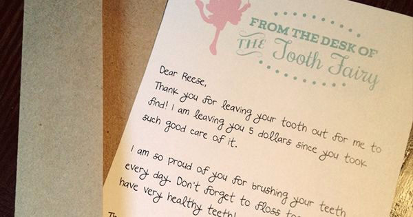 From the Desk Of Template Best Of Free tooth Fairy Letter by Three Little Monkeys Studio