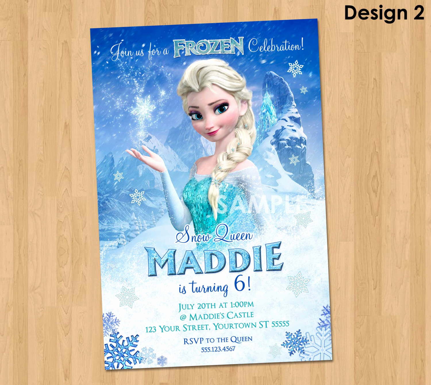 Frozen Bday Party Invitations Awesome Elsa Frozen Invitation Frozen Birthday Invitation Disney