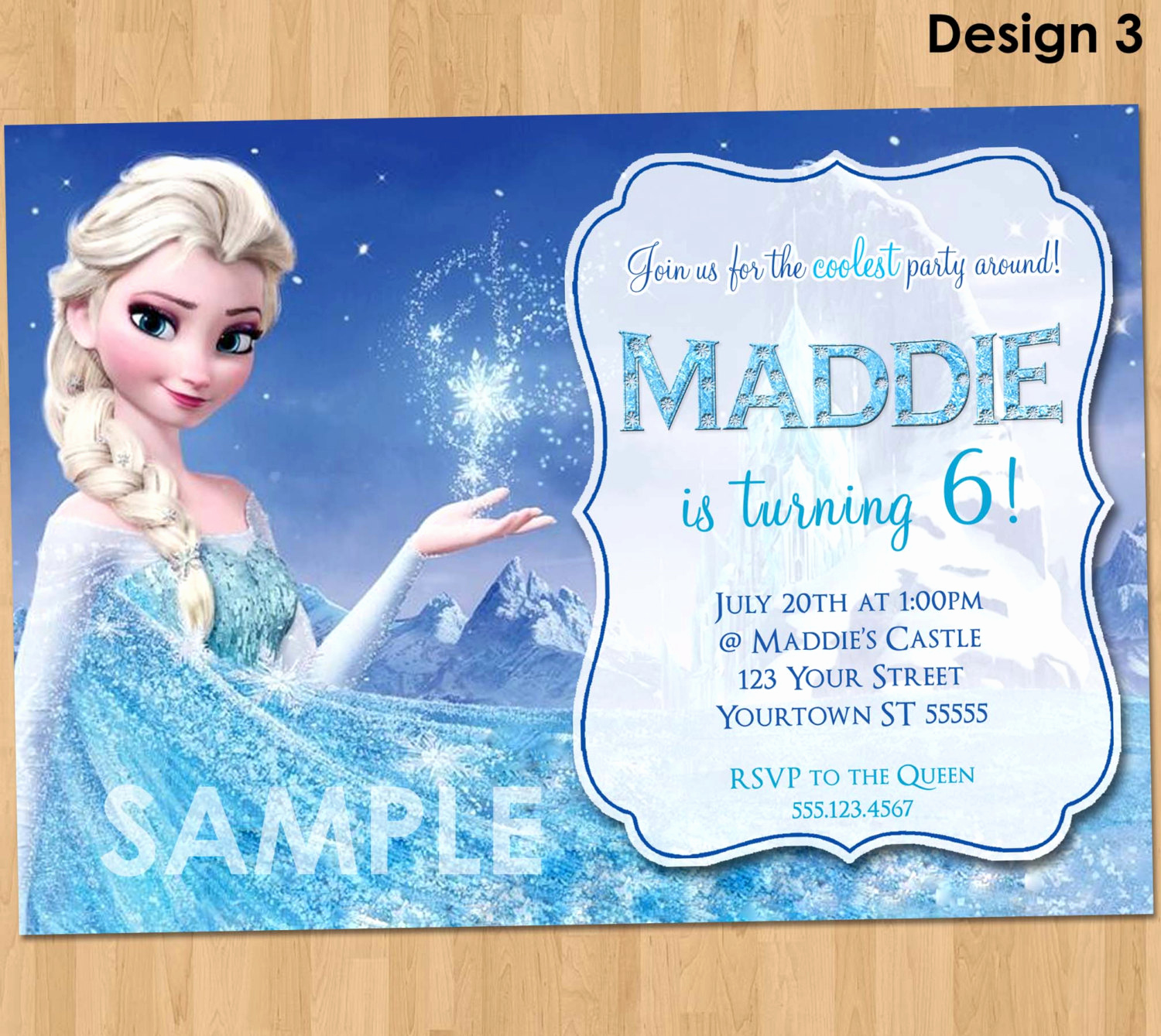 Frozen Bday Party Invitations Awesome Frozen Birthday Invitation Elsa Frozen Invitation