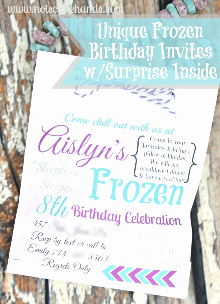 Frozen Bday Party Invitations Awesome Unique Frozen Birthday Party Invites with Treat Inside