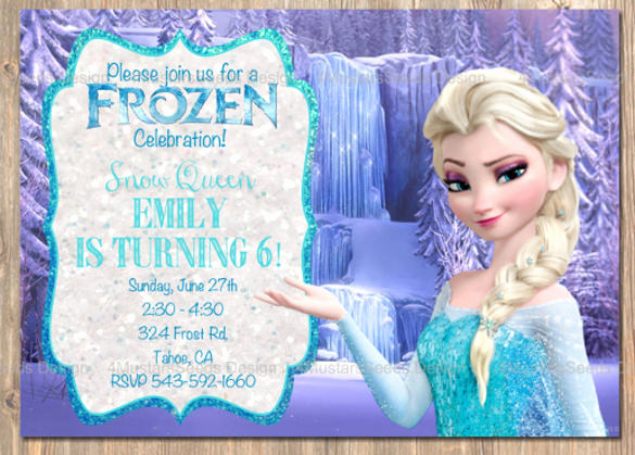 Frozen Bday Party Invitations Best Of 12 Frozen Birthday Invitation Psd Ai Vector Eps