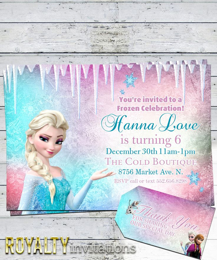 Frozen Bday Party Invitations Best Of 54 Best Invitations Images On Pinterest