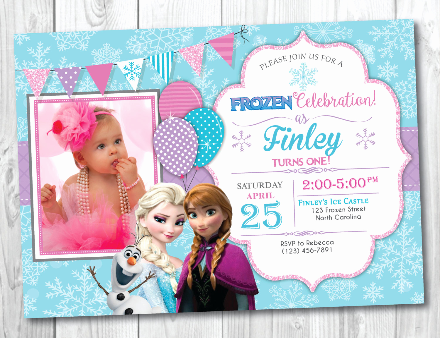 Frozen Bday Party Invitations Best Of Frozen Birthday Invitation Printable with Frozen