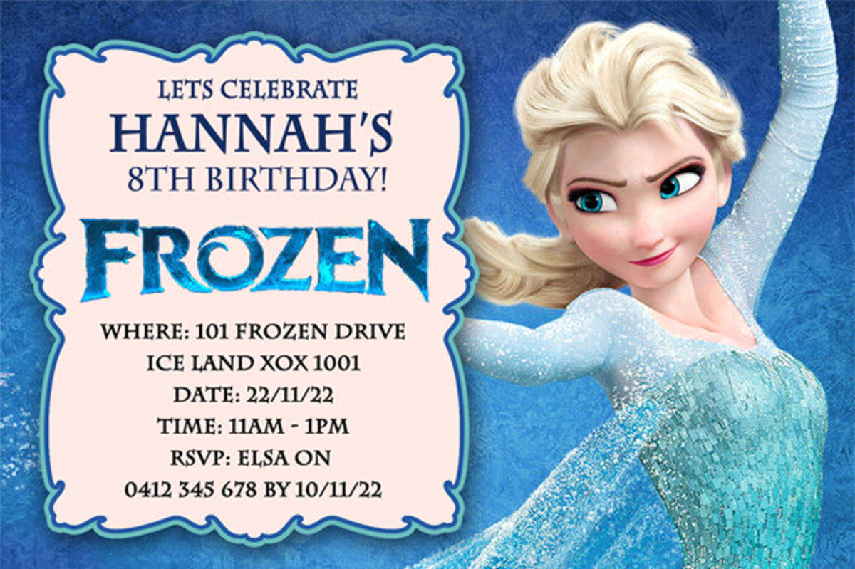 Frozen Bday Party Invitations Elegant Best Selection Of Frozen Personalized Birthday Invitations