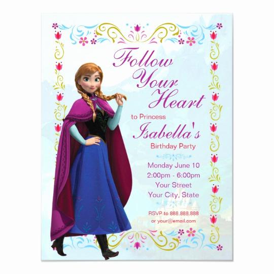 Frozen Bday Party Invitations Elegant Frozen Anna Birthday Party Invitation