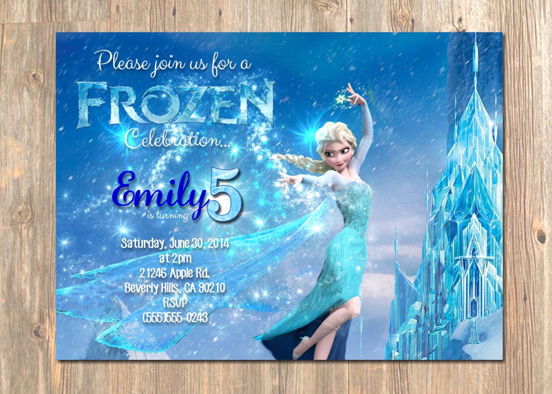 Frozen Bday Party Invitations Elegant Frozen Birthday Invitation Elsa Frozen Invitation Printable