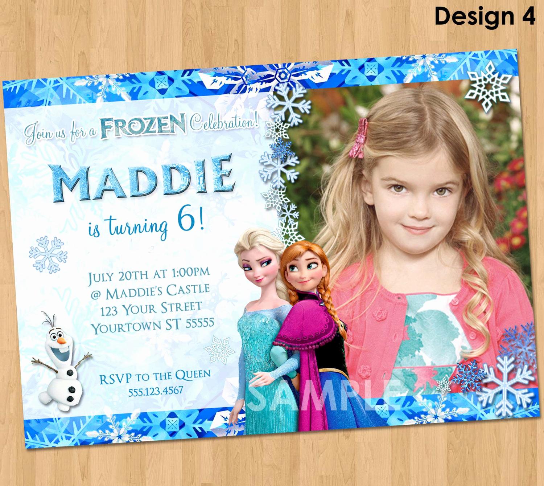 Frozen Bday Party Invitations Elegant Printable Frozen Invitation Frozen Birthday Invitation with