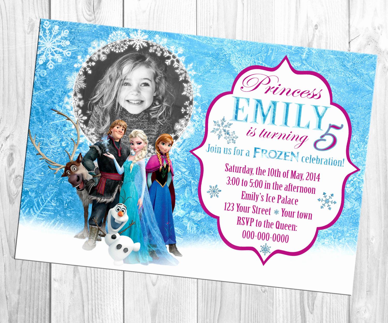 Frozen Bday Party Invitations Fresh Disney Frozen Birthday Invitation