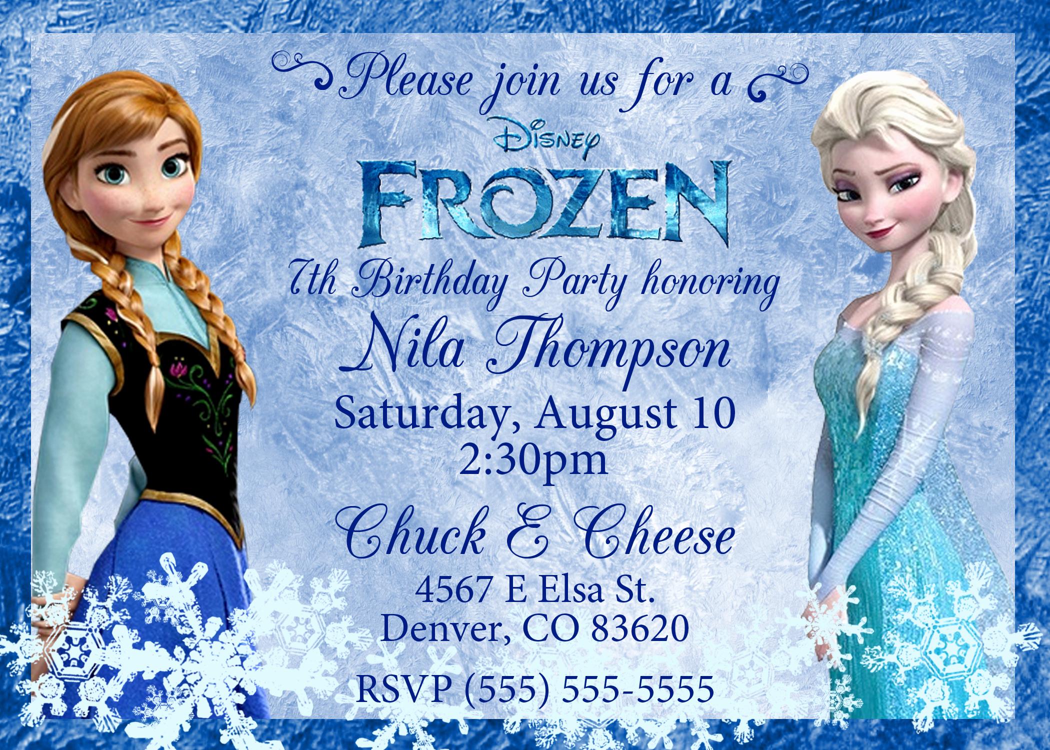 Frozen Bday Party Invitations Fresh Frozen 2013 Birthday Invitation