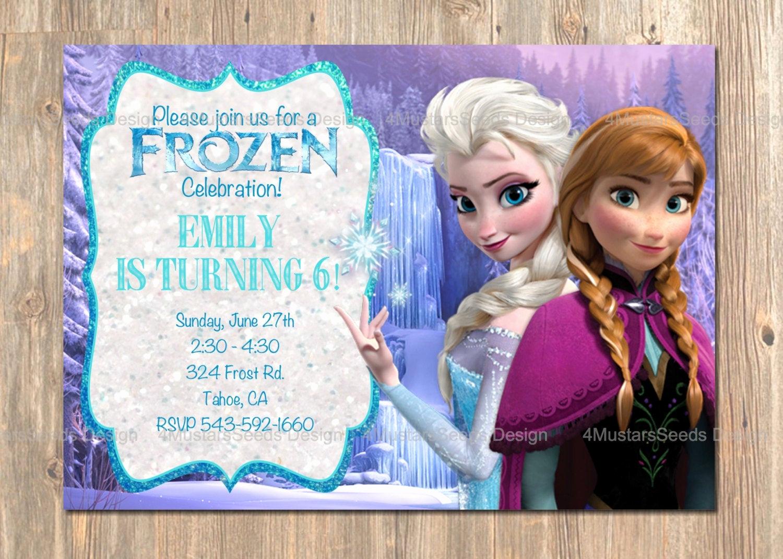 Frozen Bday Party Invitations Fresh Frozen Birthday Invitation Elsa Anna Frozen Invitation