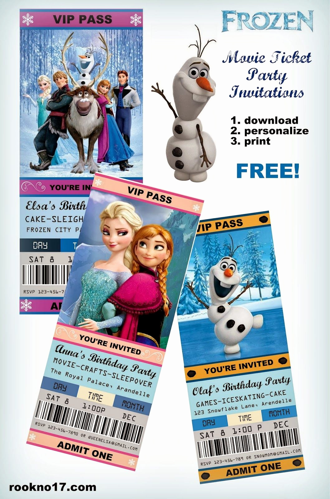 Frozen Bday Party Invitations Inspirational Free Frozen Invitations On Pinterest