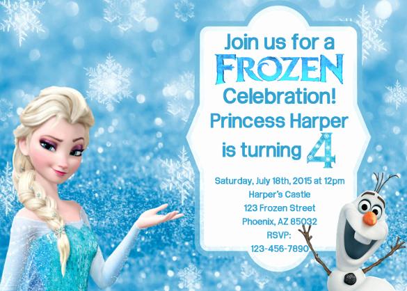 Frozen Bday Party Invitations Lovely 12 Frozen Birthday Invitation Psd Ai Vector Eps