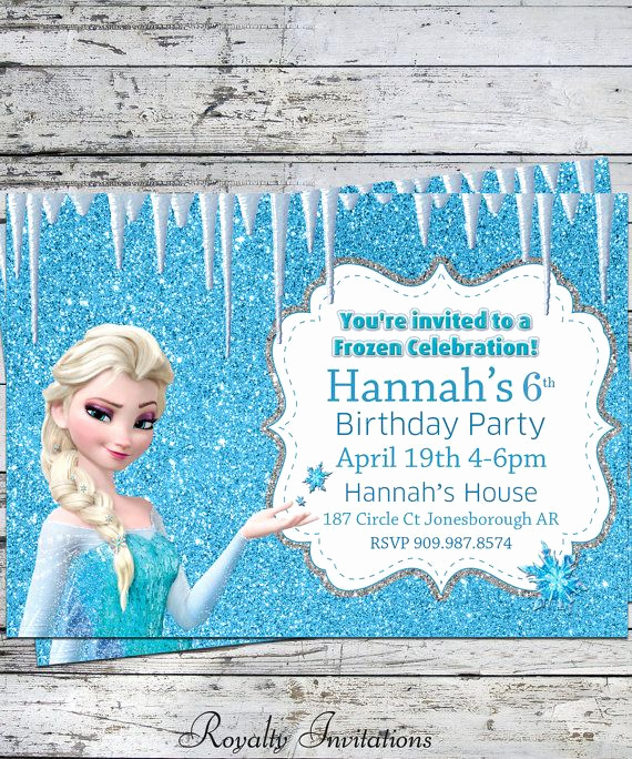 Frozen Bday Party Invitations Lovely 19 Best Frozen Invitations Images On Pinterest