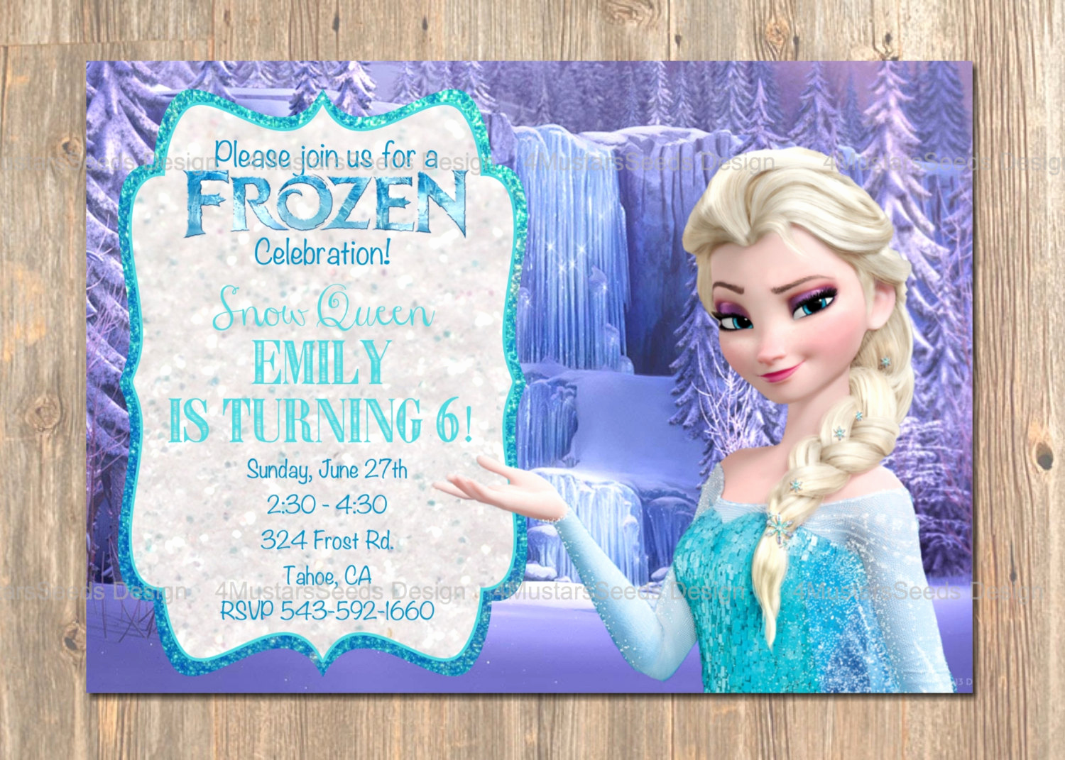 Frozen Bday Party Invitations Luxury Frozen Birthday Invitation Elsa Frozen Invitation Printable