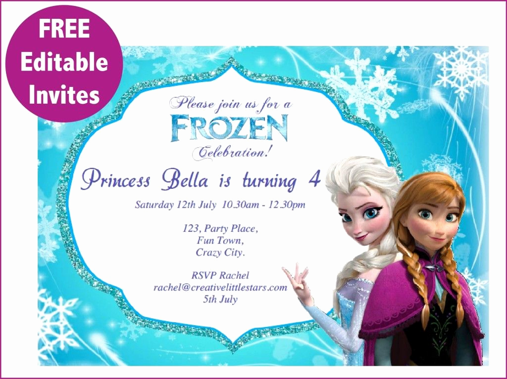 Frozen Bday Party Invitations Luxury Frozen Free Printable Invitations Templates