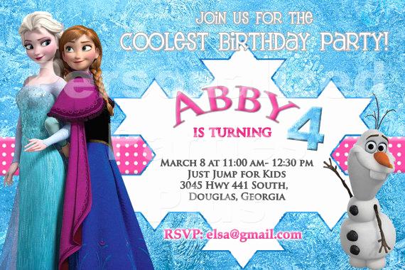 Frozen Bday Party Invitations New Frozen Birthday Party Invitation