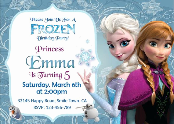 Frozen Bday Party Invitations New Unavailable Listing On Etsy