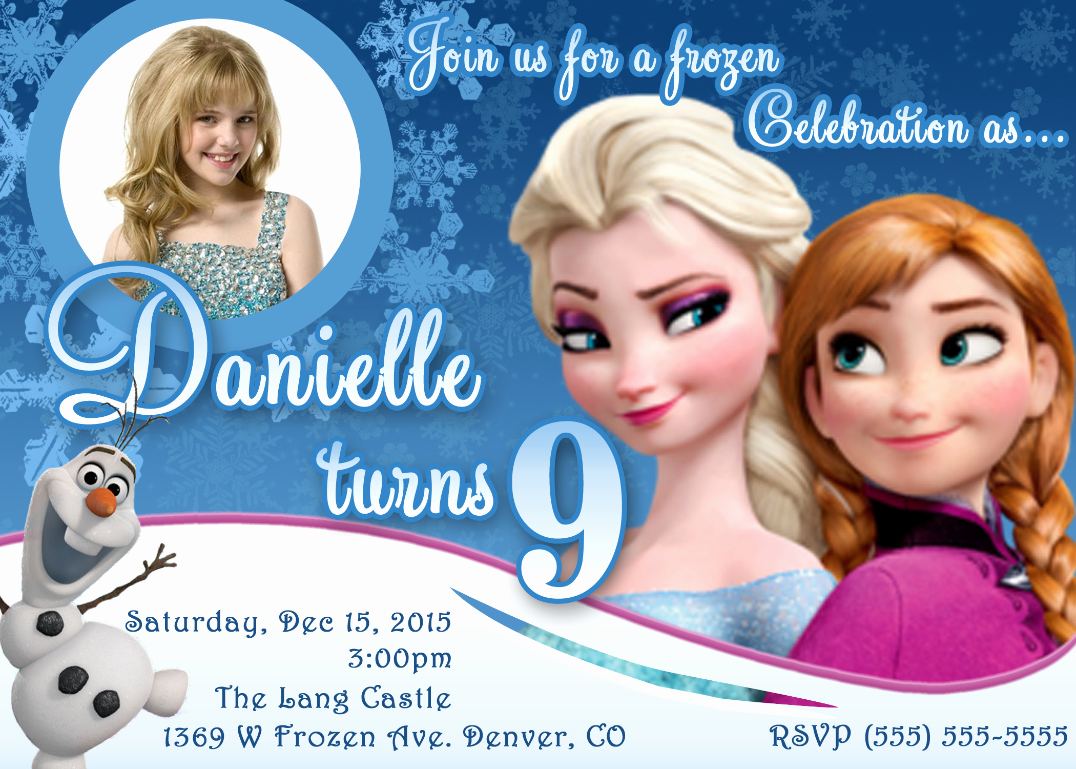 Frozen Bday Party Invitations Unique Frozen Birthday Invitations