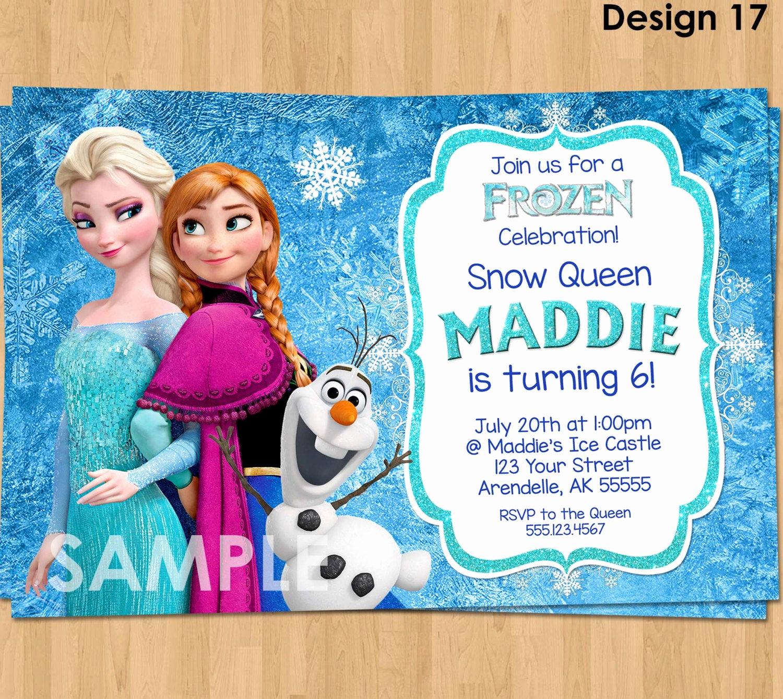 Frozen Bday Party Invitations Unique Frozen Invitation Frozen Birthday Invitation Disney Frozen