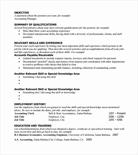 Functional Resume Template Word Awesome 6 Sample Functional Resumes