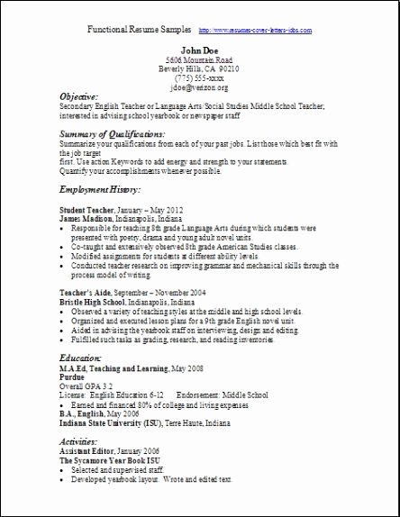 Functional Resume Template Word Fresh Functional Resume Samples Examples Samples Free Edit with Word