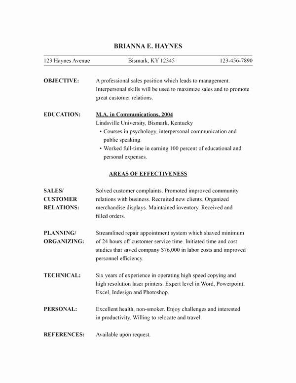 Functional Resume Template Word Inspirational Free Resume Templates