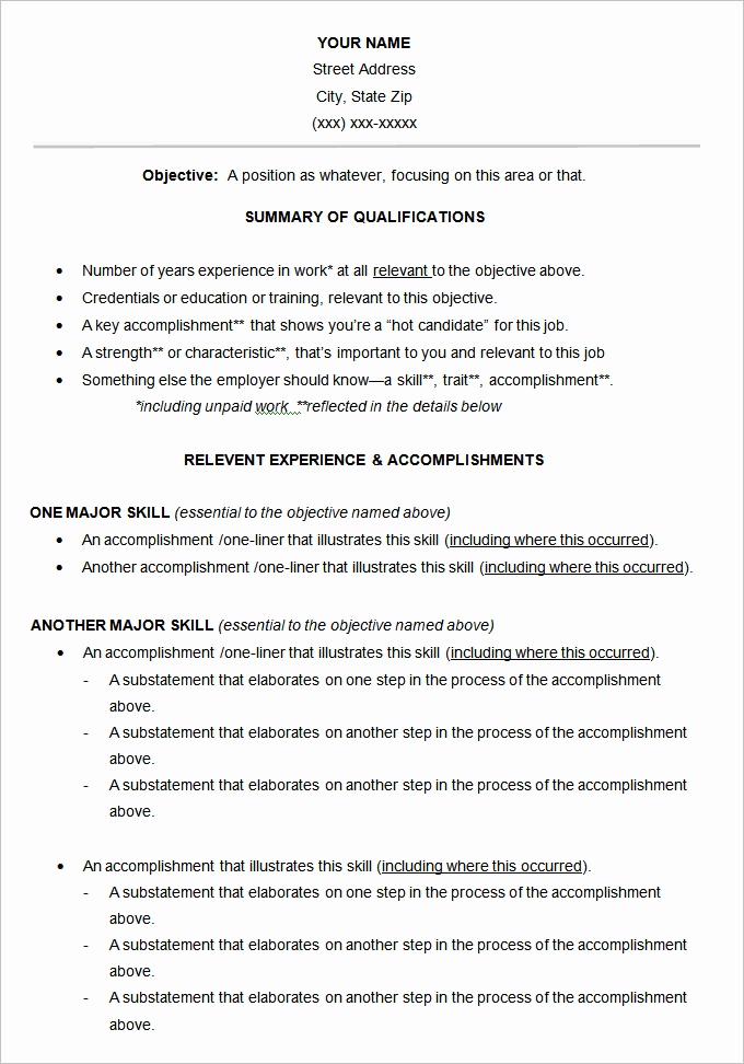 Functional Resume Template Word Inspirational Functional Resume Template – 15 Free Samples Examples