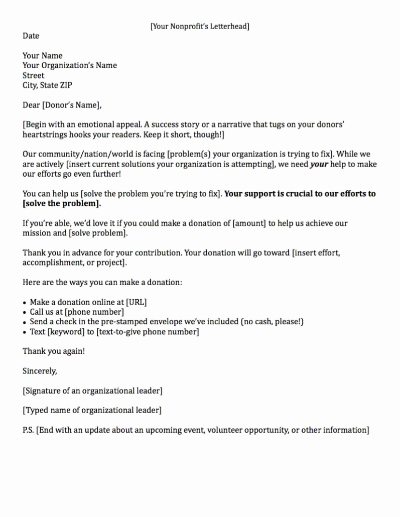 Fund Raising Letter Templates Fresh Fundraising Letters 7 Examples to Craft A Great