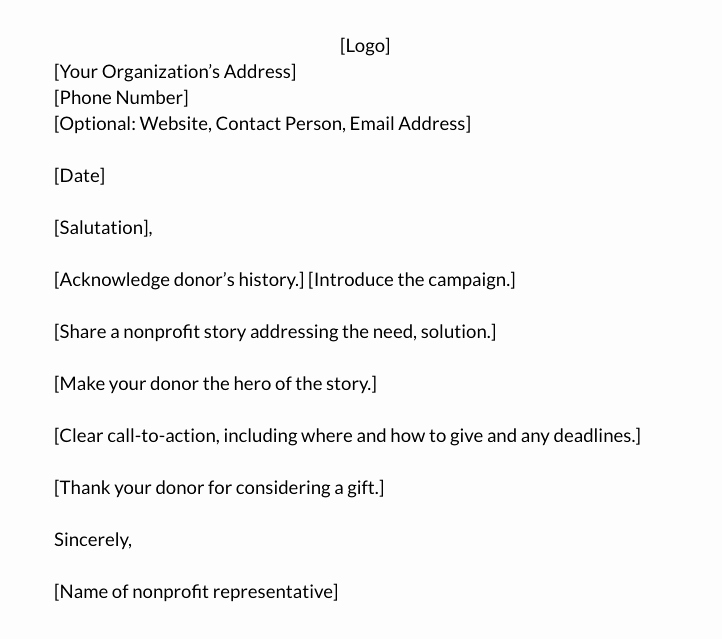 Fund Raising Letter Templates Fresh How to Write the Perfect Donation Letter Examples