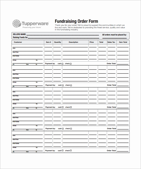 Fundraising order form Templates Beautiful order form Template 23 Download Free Documents In Pdf